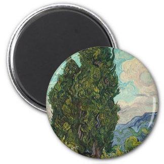 Van Gogh Cypresses Magnet