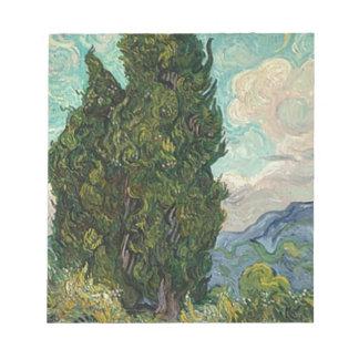 Van Gogh Cypresses Notepad