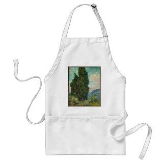 Van Gogh Cypresses Standard Apron