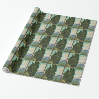Van Gogh Cypresses Wrapping Paper