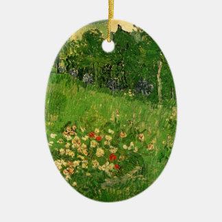 Van Gogh Daubigny's Garden, Vintage Fine Art Ceramic Ornament
