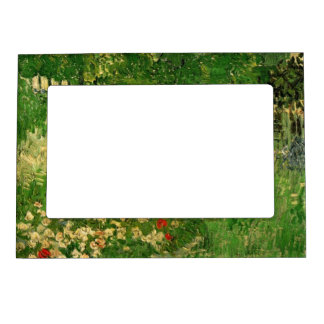 Van Gogh Daubigny's Garden, Vintage Fine Art Magnetic Picture Frame