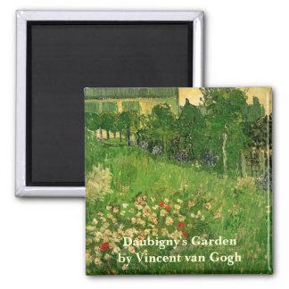 Van Gogh Daubigny's Garden, Vintage Fine Art Square Magnet