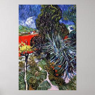Van Gogh - Doctor Gachets Garden In Auvers Posters