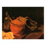 Van Gogh Earthenware, Bottle, Clogs, Vintage Art Personalized Invitations