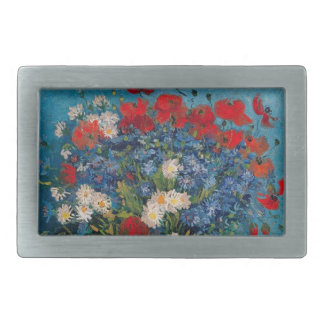 Van Gogh & Elizabeth Flower (Change Shape) - Rectangular Belt Buckle