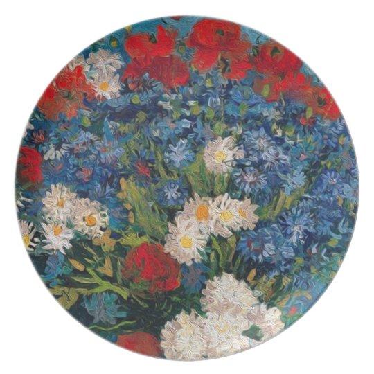 Van Gogh & Elizabeth Flower - Dessert & Dining Plate