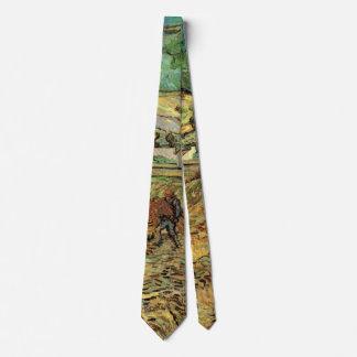 Van Gogh Enclosed Wheat Field and Peasant Fine Art Tie