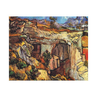 Van Gogh - Entrance To A Quarry Near Saint Remy Stretched Canvas Print