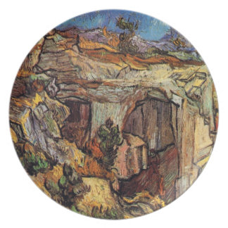 Van Gogh - Entrance To A Quarry Near Saint Remy Dinner Plate
