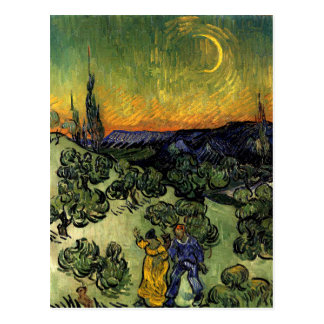 Van Gogh: Evening Promenade Postcard