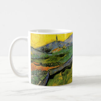 Van Gogh Field of Spring Wheat, Sunrise, Fine Art Coffee Mug