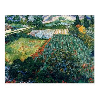 Van Gogh - Field with Poppies Postcard