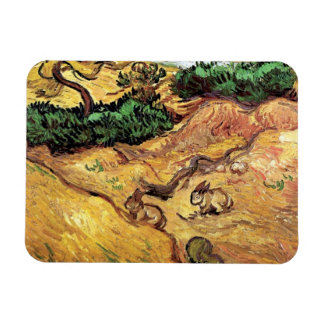 Van Gogh - Field With Two Rabbits Magnet