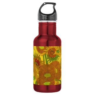 Van Gogh Fifteen Sunflowers In A Vase Fine Art 532 Ml Water Bottle