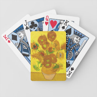 Van Gogh Fifteen Sunflowers In A Vase Fine Art Bicycle Playing Cards