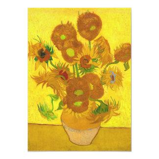 Van Gogh Fifteen Sunflowers In A Vase Fine Art Card