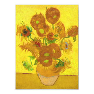 Van Gogh Fifteen Sunflowers In A Vase Fine Art Card