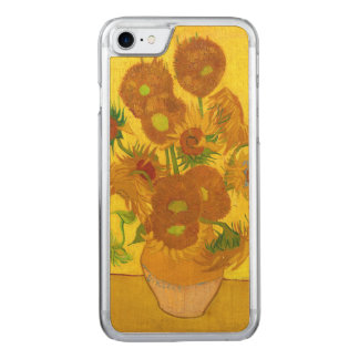 Van Gogh Fifteen Sunflowers In A Vase Fine Art Carved iPhone 8/7 Case