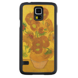 Van Gogh Fifteen Sunflowers In A Vase Fine Art Carved Maple Galaxy S5 Case