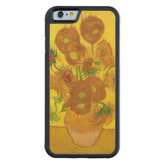 Van Gogh Fifteen Sunflowers In A Vase Fine Art Carved Maple iPhone 6 Bumper Case