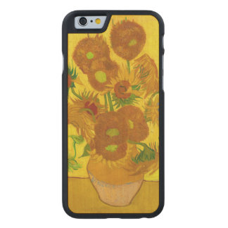 Van Gogh Fifteen Sunflowers In A Vase Fine Art Carved Maple iPhone 6 Case