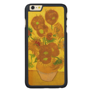 Van Gogh Fifteen Sunflowers In A Vase Fine Art Carved Maple iPhone 6 Plus Case