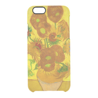 Van Gogh Fifteen Sunflowers In A Vase Fine Art Clear iPhone 6/6S Case
