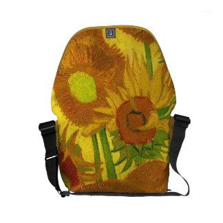 Van Gogh Fifteen Sunflowers In A Vase Fine Art Courier Bag