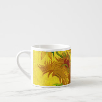 Van Gogh Fifteen Sunflowers In A Vase Fine Art Espresso Cup