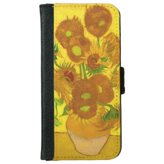 Van Gogh Fifteen Sunflowers In A Vase Fine Art iPhone 6 Wallet Case