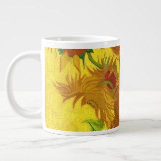 Van Gogh Fifteen Sunflowers In A Vase Fine Art Large Coffee Mug