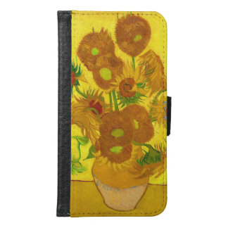 Van Gogh Fifteen Sunflowers In A Vase Fine Art Samsung Galaxy S6 Wallet Case