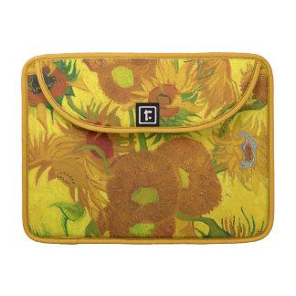 Van Gogh Fifteen Sunflowers In A Vase Fine Art Sleeve For MacBook Pro