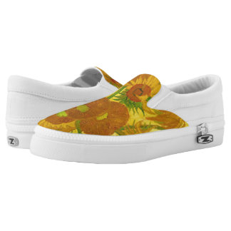 Van Gogh Fifteen Sunflowers In A Vase Fine Art Slip-On Shoes