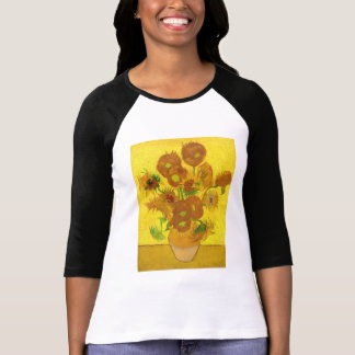 Van Gogh Fifteen Sunflowers In A Vase Fine Art T-Shirt