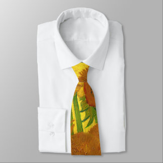 Van Gogh Fifteen Sunflowers In A Vase Fine Art Tie