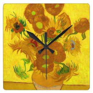 Van Gogh Fifteen Sunflowers In A Vase Fine Art Wall Clocks