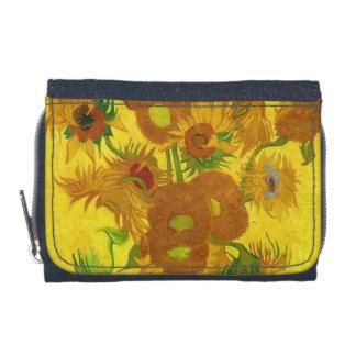 Van Gogh Fifteen Sunflowers In A Vase Fine Art Wallets