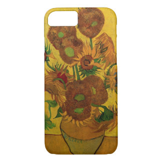 Van Gogh Fine Art Flowers, Vase with 15 Sunflowers iPhone 7 Case