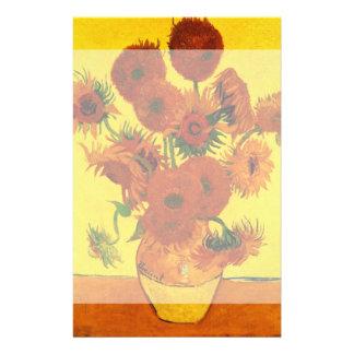 Van Gogh Fine Art, Vase with 15 Sunflowers Customized Stationery