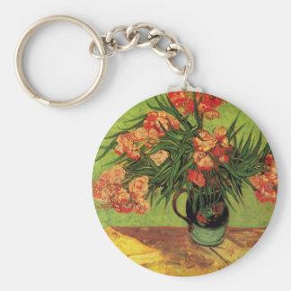 Van Gogh Fine Art, Vase with Oleanders and Books Key Ring