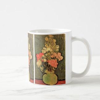 Van Gogh Fine Art, Vase with Rose Mallow Flowers Basic White Mug