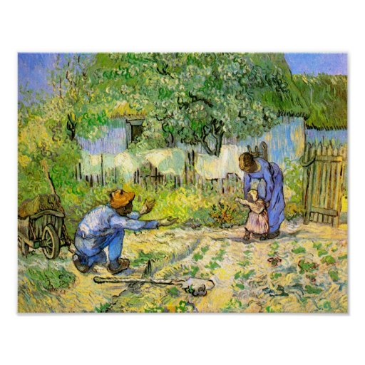 Van Gogh First Steps (after Millet) (F668) Posters