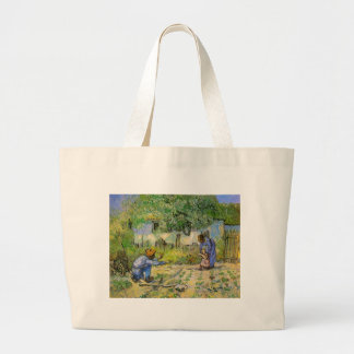 Van Gogh, First Steps, Vintage Impressionism Art Canvas Bags