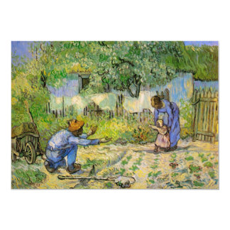 Van Gogh, First Steps, Vintage Impressionism Art Card