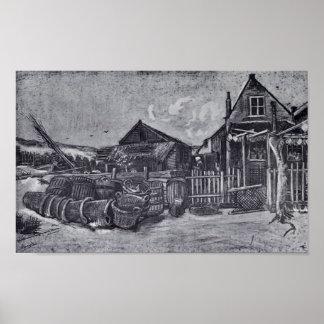 Van Gogh - Fish-Drying Barn in Scheveningen Print