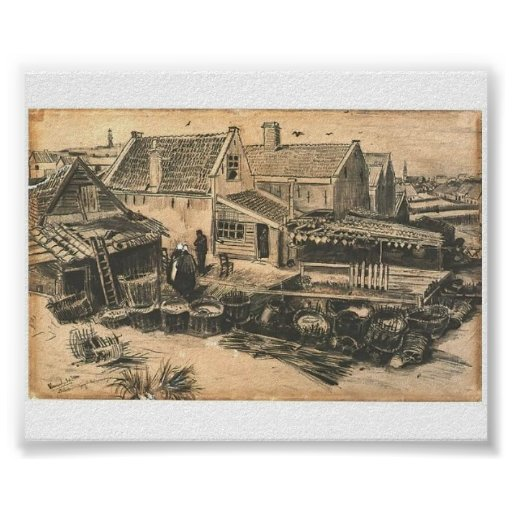 Van Gogh - Fish-Drying Barn, Seen From a Height Posters