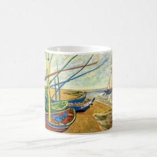 Van Gogh Fishing Boats on Beach at Saintes Maries Coffee Mug