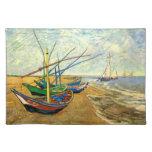 Van Gogh Fishing Boats on Beach at Saintes Maries Place Mat
